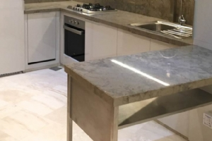 Grey Marble Kitchen Island Tops